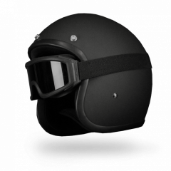 MATRIX JET MATT BLACK LOW PROFILE  MOTORCYCLE HELMET